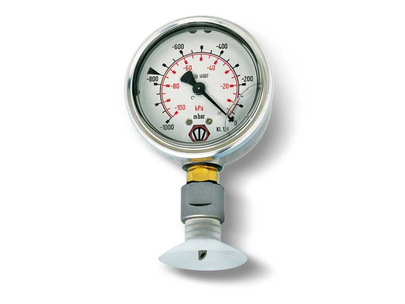 Vacuum gauges with steel punch