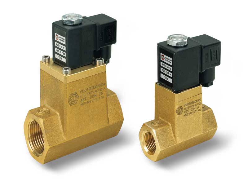 Direct drive 2-way vacuum solenoid valves