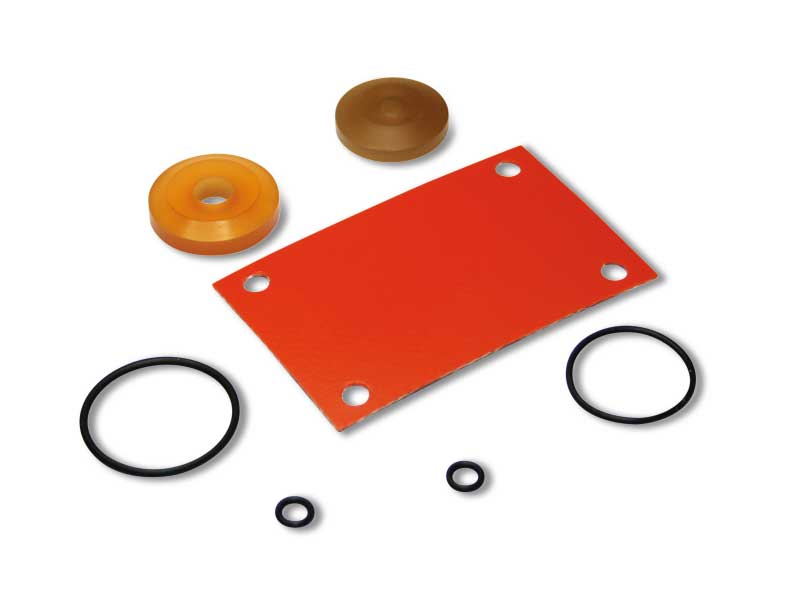 Solenoid valve sealing kit with low absorption electric coils
