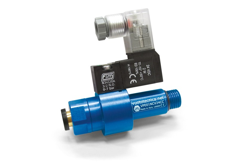 Accessories for single-stage vacuum generators - Pneumatic coaxial shutter valves