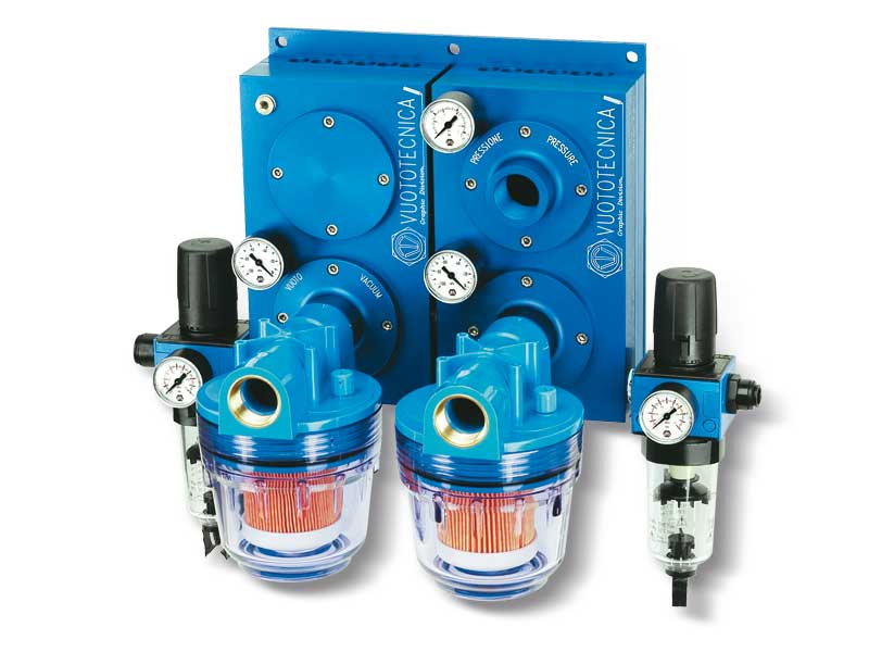 Pneumatic combined suction and blowing pumps: Art. Pa 40 ÷ 100 con ps 40 ÷ 100