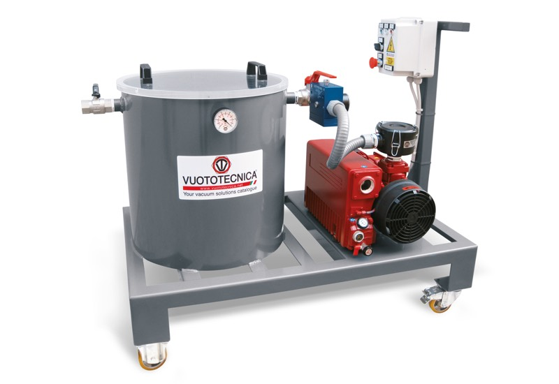 Mobile system for resin vacuum infusion