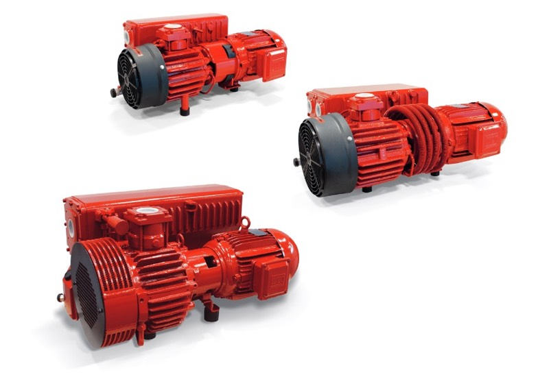 Lubrificated rotary vane vacuum pumps, RVP series