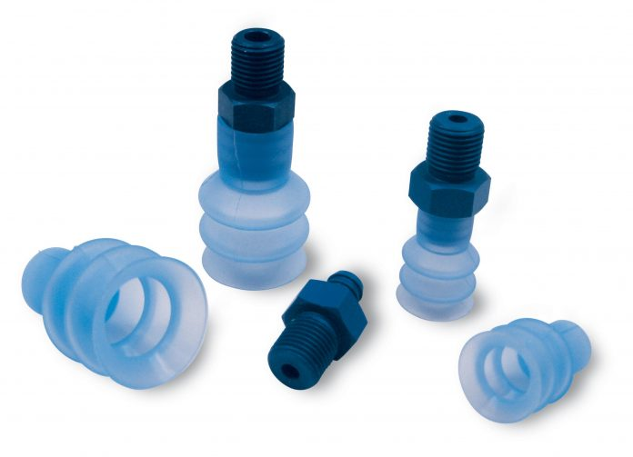 Bellow suction cups for flowpack packaging gripping