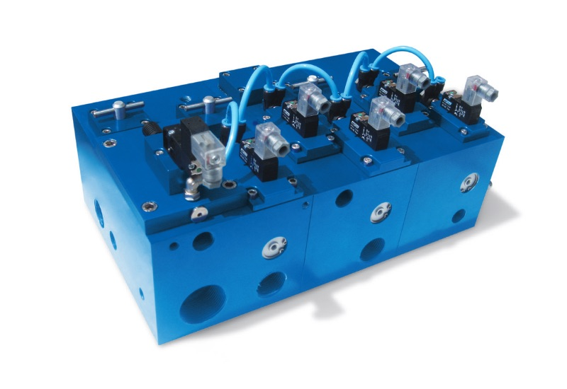 Multi-function modules with built-in vacuum solenoid valves