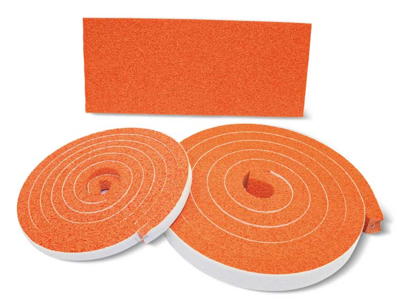 OF foam rubber sheets and strips