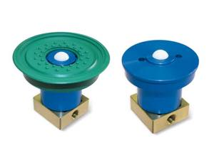 built-in suction cups with a ball valve